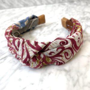 Red and White Swirl Headband