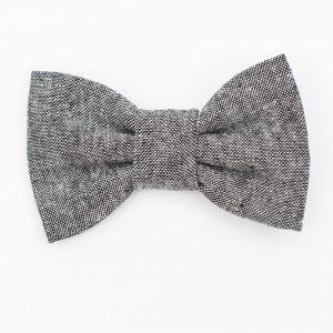 Black Linen Kids' Bow Tie