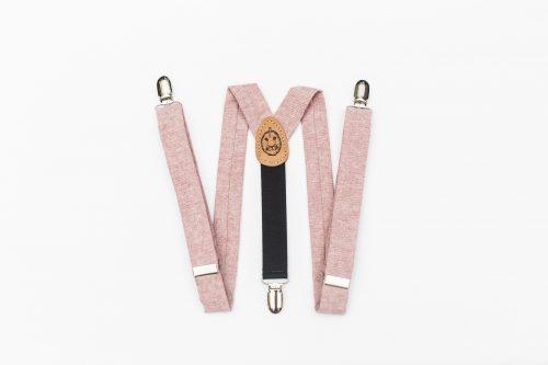 Pink Linen Kids' Suspenders