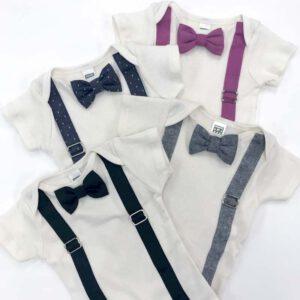 Bow Tie & Suspender Onesie