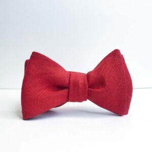 Poppy Linen Bow Tie