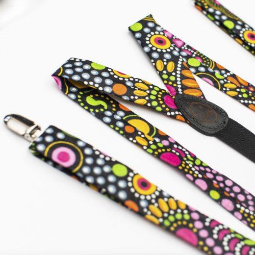 Mandala Slim Cut Clip-On Suspenders