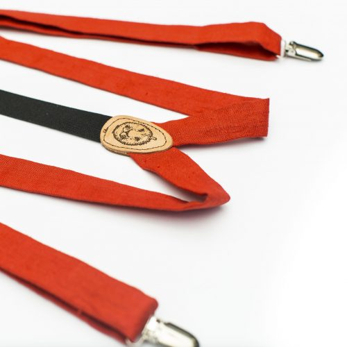 Poppy Red Slim Cut Suspenders