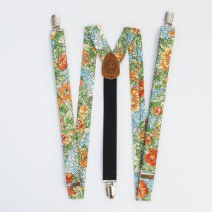 "Farmette Floral 1"" Clip-On Women's Suspenders"