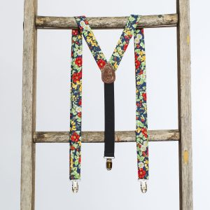 """Americana Floral 1"""" Clip-On Women's Suspenders"""