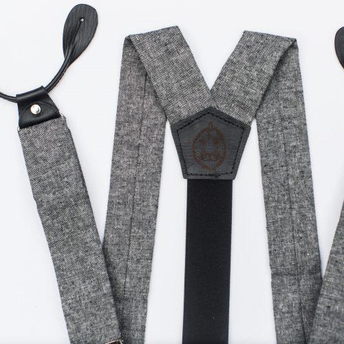 Black Linen Suspenders